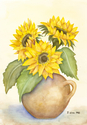 Sunflower (original watercolor) (thumbnail)