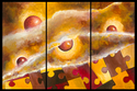 Revealing Life (original acrylic on canvas) Three panel painting (thumbnail)
