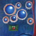 Painting--Oil-AbstractFamily relations (original oil on canvas)