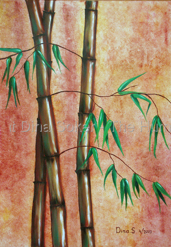 Bamboo in trio (original oil on canvas)  (large view)