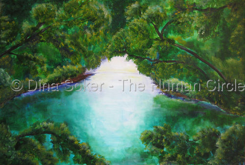 My Secret Place (original acrylic on canvas) (large view)