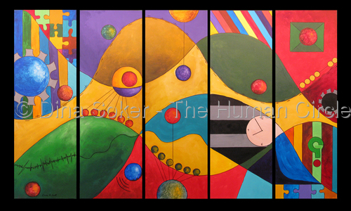 Human Dynamics (Original acrylic on canvas) (large view)