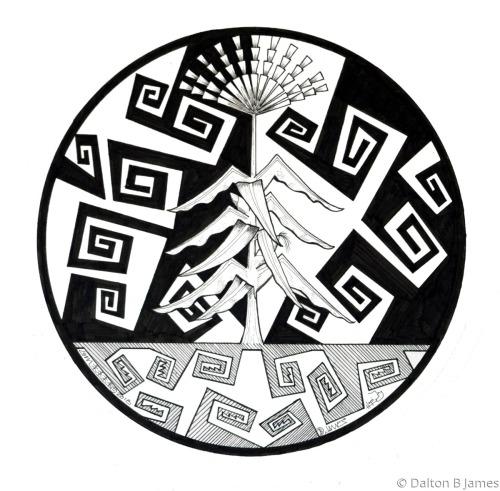 Corn Stalk 1 by Dalton Buddy James - Original Hopi Art