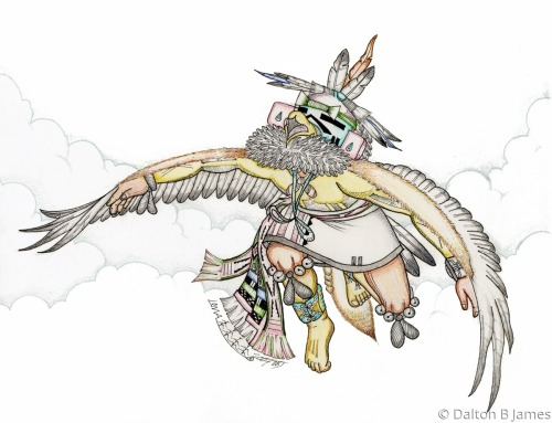 Taking Flight by Dalton Buddy James - Original Hopi Art