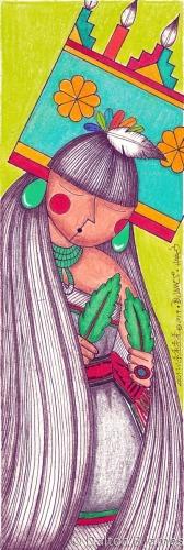 Butterfly Dance Maiden 3 by Dalton Buddy James - Original Hopi Art