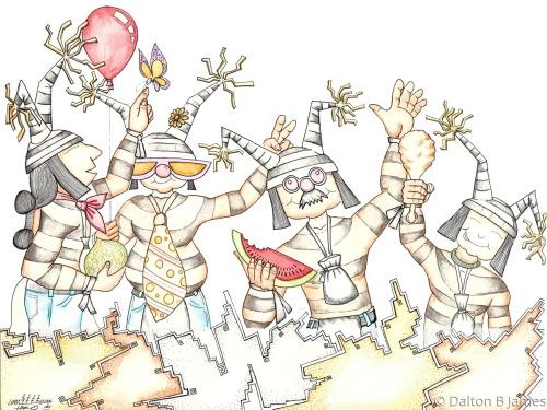 Clowning Around by Dalton Buddy James - Original Hopi Art
