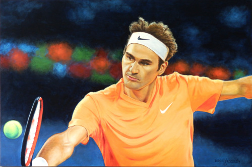 Commission Portrait of Roger Federer