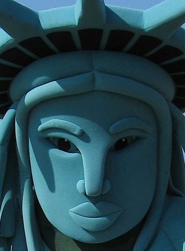 STREET CORNER STATUE OF LIBERTY  by D. Lindemann Photography LLC