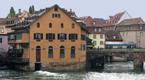 Maison sur Le Reve Ill, Strasbourg, France by D. Lindemann Photography LLC