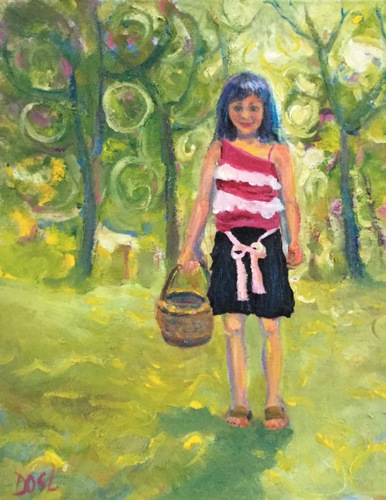Girl With Basket by Donna O'Scolaigh Lange
