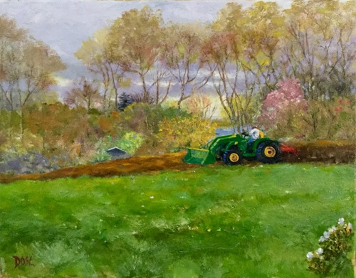Spring Plow by Donna O'Scolaigh Lange