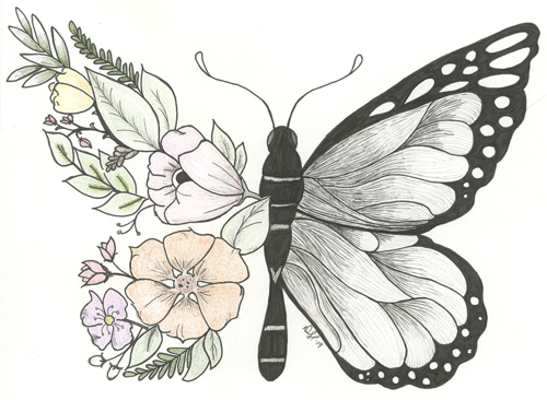 Botanical Butterfly