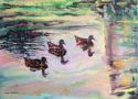 Three Ducks and Reflection (thumbnail)