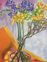 Arrangement of Freesia with Branch and Tissue Paper (thumbnail)