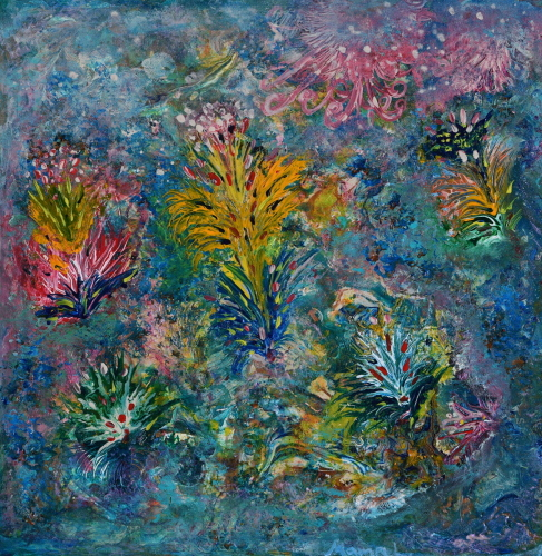 Flowers from the other side by David Mampel