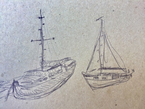 sailboat sketches