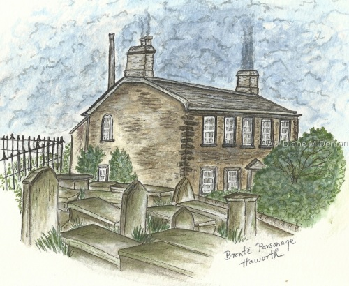 Brontë Parsonage by DM Denton Author and Artist