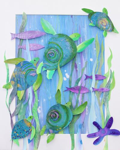 Turtle Parade by Deborah Mores Art