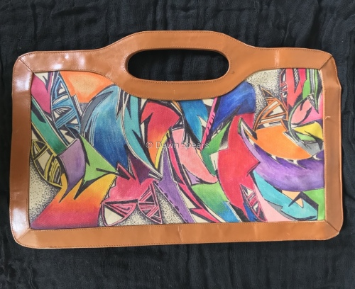"""ReDesigned """"Hand Painted""""  Vintage Saks Clutch"""