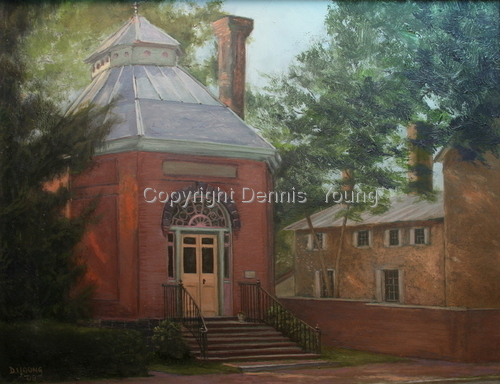 The Old Library in New Castle by Dennis Young