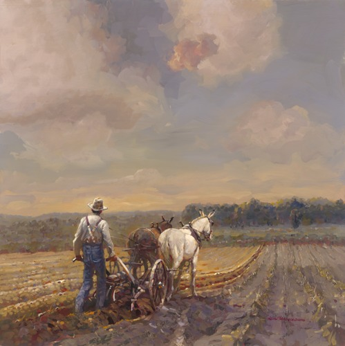 Straight Golden Furrows by Leland Beaman