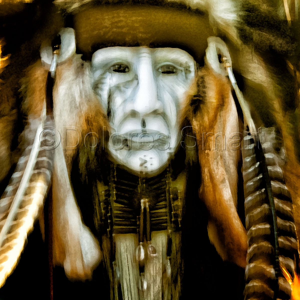 Dolores Smart photography, color, graphic face (large view)