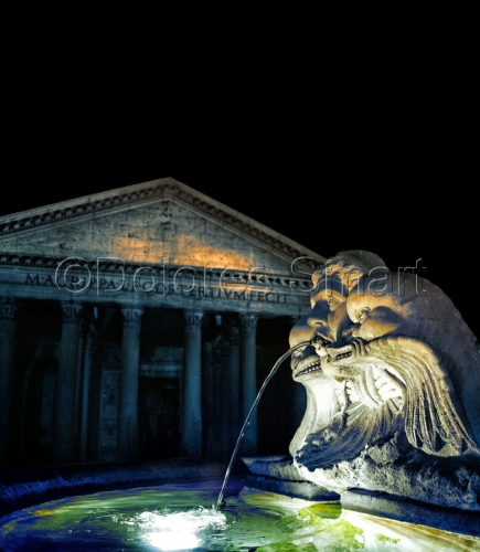 Pantheon and Fountain, Rome