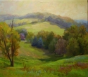 Pennsylvania landscape painting looking across a valley (thumbnail)