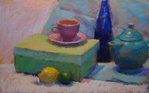 Cobalt and Pink Cup (large view)