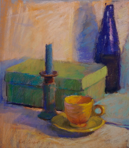 Cobalt and Yellow Cup (large view)