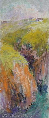 Painting--Pastels-LandscapeCeltic Cascade 1