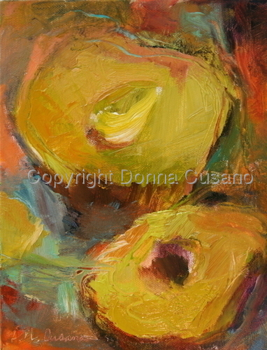 Painting--Oil-AbstractAvocado Abstract 1