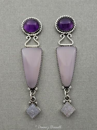 Amethyst, Lavender Fluorite, Drusy by DONNA J. BENNETT