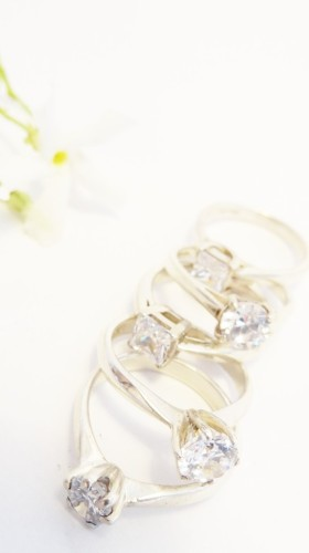 Selection of engagement rings