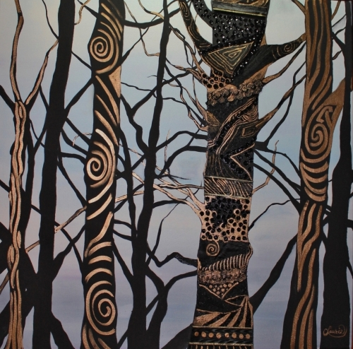 Accotink Trees by Laurie Nelson Art