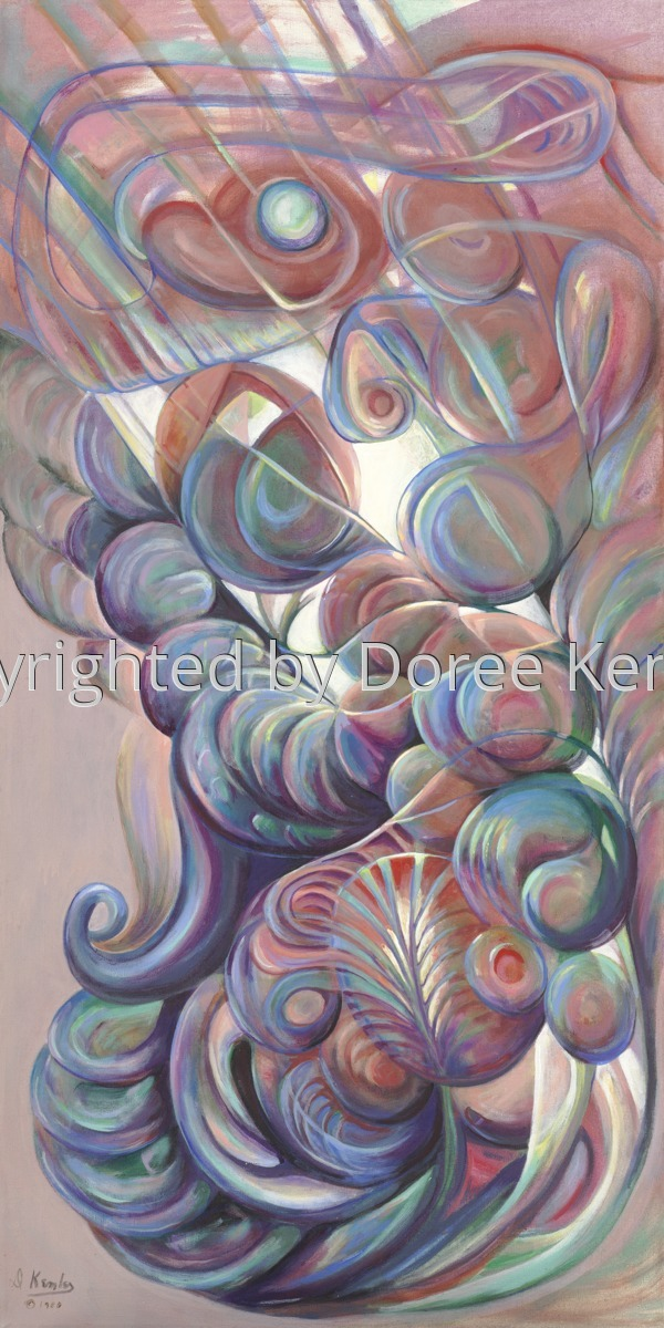 Abstract acrylic painting by Doree S. Kemler entitled The Gladiator (large view)
