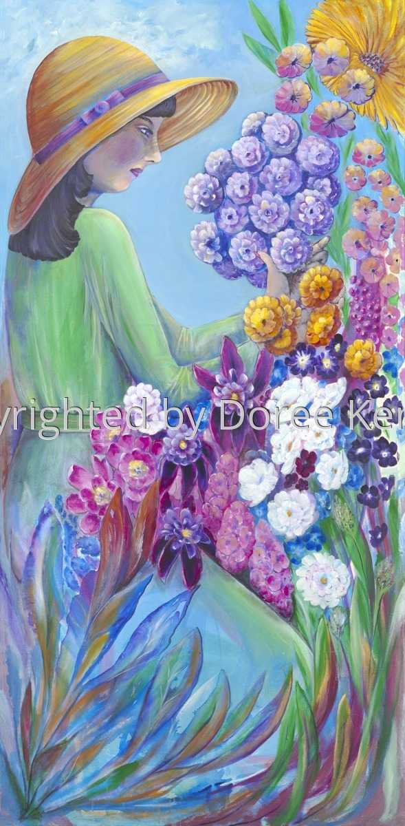 Nadine's Garden  -acrylic on canvas (large view)