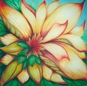 Abstract acrylic painting by Doree S. Kemler entitled Summer in Flower. (thumbnail)