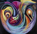 Abstract acrylic painting by Doree S. Kemler entitled Sounds of the Universe. (thumbnail)