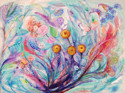 Abstract acrylic painting by Doree S. Kemler entitled Wildflowers. (thumbnail)