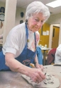 The Artist at  work  -this photo by Bob Andres / AJC Staff (thumbnail)