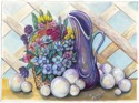 "Watercolor painting by Doree S. Kemler entitled ""Marble Balls."" (thumbnail)"