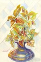Flora in a vase with Lattice Background (thumbnail)