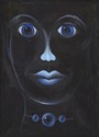 Facial Features in Blue (thumbnail)