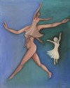 Dancers -acrylic on canvas board (thumbnail)