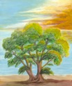The Sunset Tree -acrylic on canvas (thumbnail)