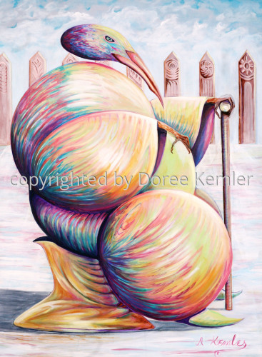 Majesty -acrylic on canvas 1997
