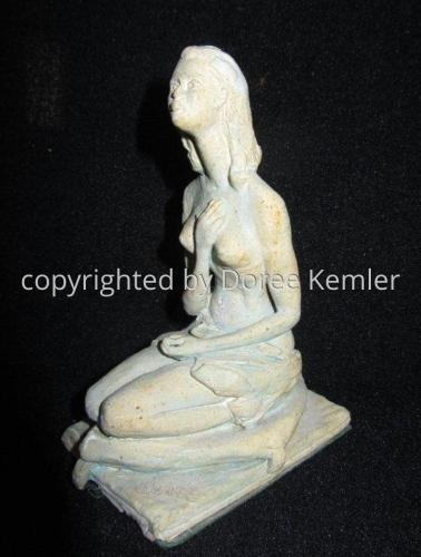 Ceramics--Clay-FigurativeKneeling Young Lady