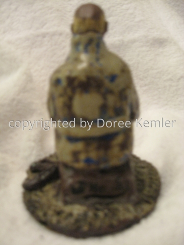 Ceramics-Seated Old Man with Dog