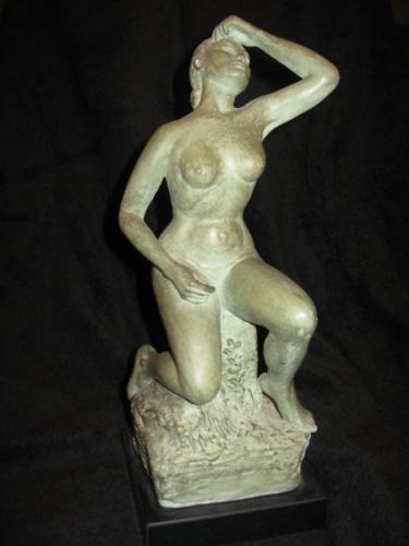 Ceramics--Clay-FigurativeWoman on a Revolving Pedestal